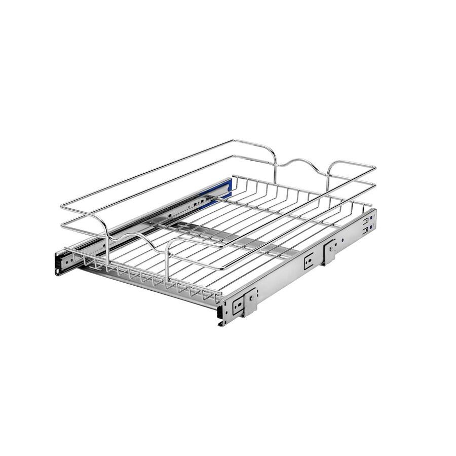 Rev-A-Shelf 14.5-in W x 6-in H Metal 1-Tier Pull Out Cabinet Basket