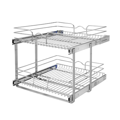rev-a-shelf-2075-in-w-x-19-in-2-tier-pull-out-metal-basket by lowes