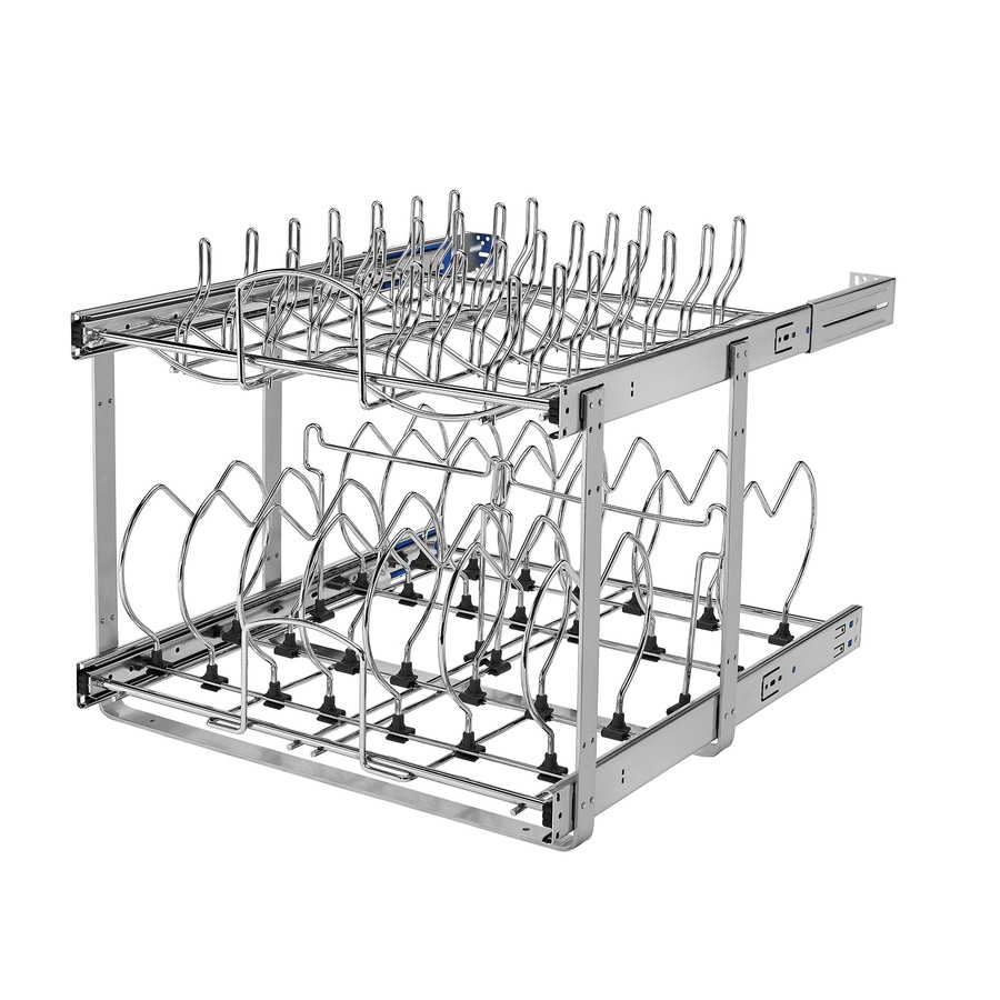 Rev-A-Shelf 20.75-in W x 18.12-in H Metal 2-Tier Cabinet Cookware Organizer