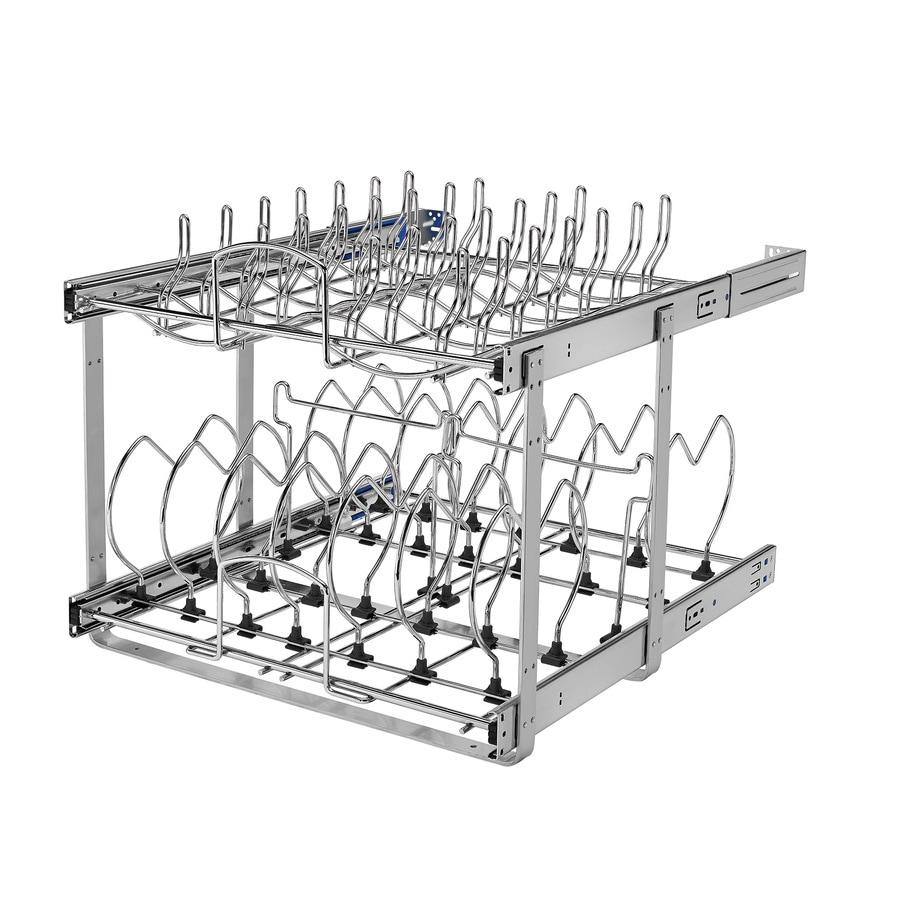 Shop Rev-A-Shelf 20.75-in W x 18.12-in H Metal 2-Tier Cabinet ...