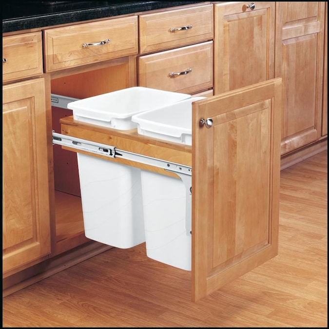 Rev A Shelf 35 Quart Plastic Pull Out Trash Can In The Pull Out Trash Cans Department At Lowes Com