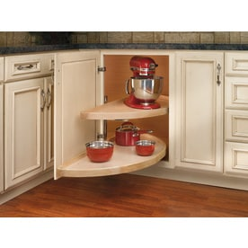 Merveilleux Rev A Shelf 2 Tier Wood Half Moon Cabinet Lazy Susan