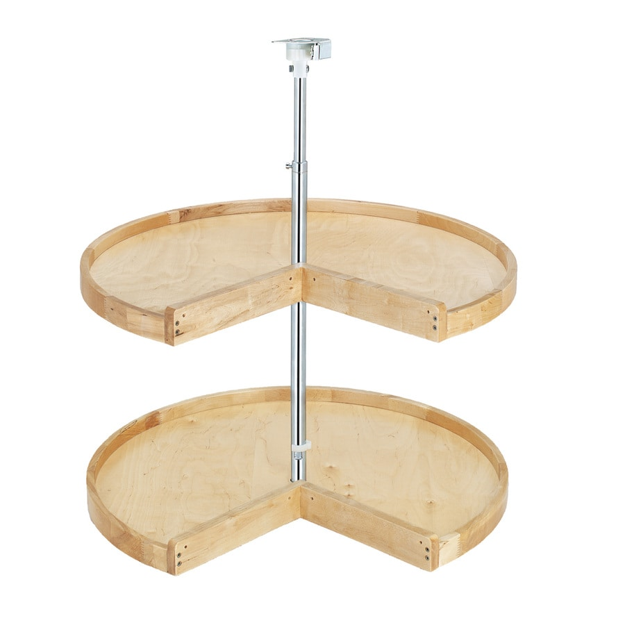Shop Rev A Shelf 2 Tier Wood Pie Cut Cabinet Lazy Susan At