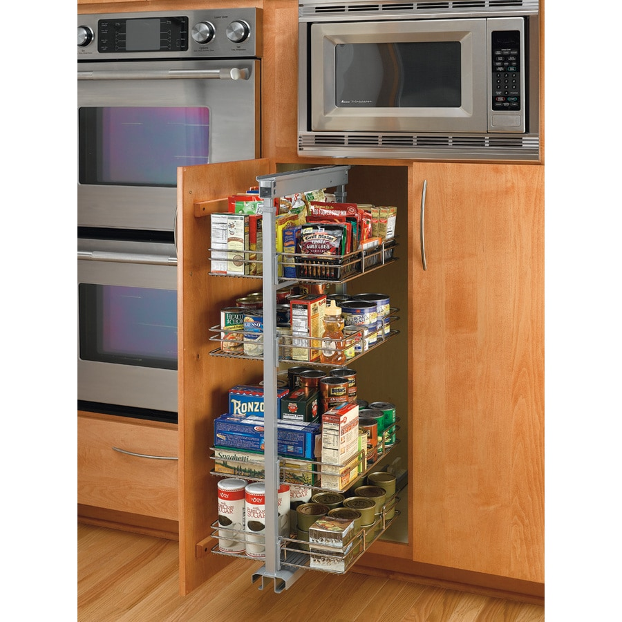 Rev-A-Shelf 15-in W x 20-in D x 66-in H 5-Tier Metal Pull Out Cabinet Basket