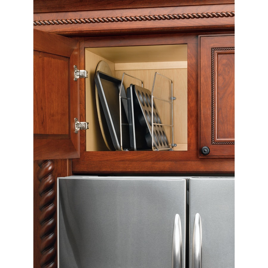 shop rev a shelf 0 75 in w x 20 in d x 12 in h 1 tier 2 Tier Chrome Pull Out Cabinet Baskets Pull Out Kitchen Cabinet Wire Basket
