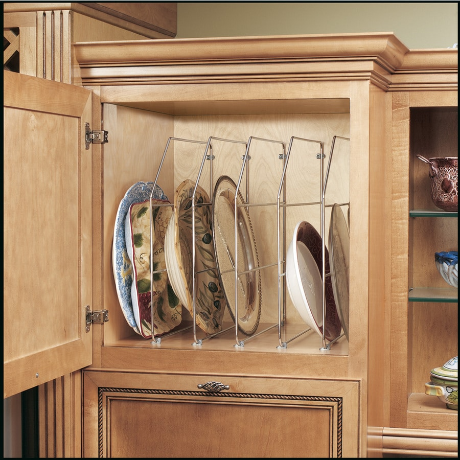 Shop rev a shelf w x 18 in h metal 1 tier cabinet for Kitchen cabinet organizers