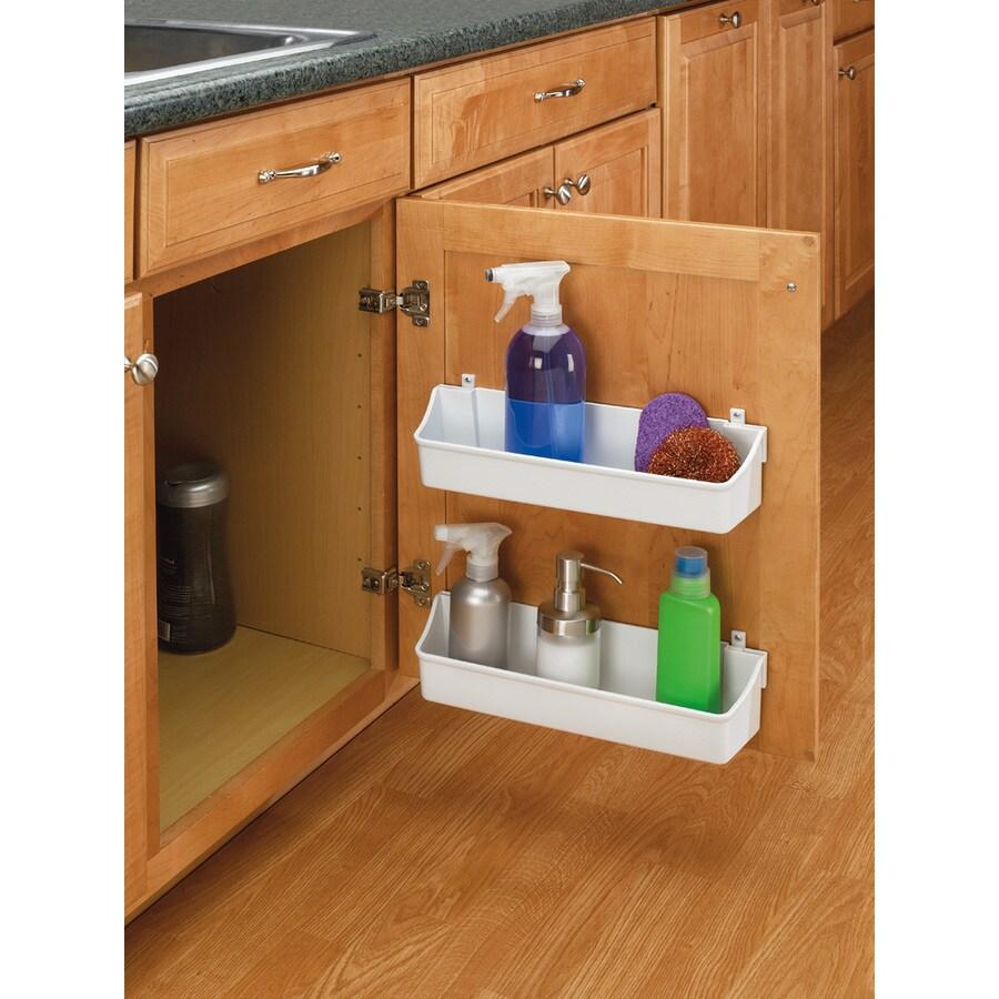 Rev-A-Shelf 13.75-in W x 3.56-in H x 4.25-in D Plastic Shelf Set