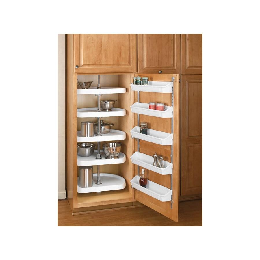 Shop Rev A Shelf 2 Tier Plastic D Shape Cabinet Lazy Susan