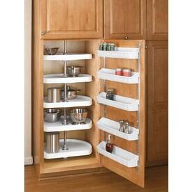 Rev A Shelf 2 Tier Plastic D Shape Cabinet Lazy Susan