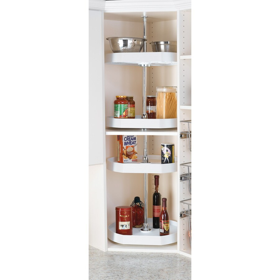 Rev-A-Shelf 2-Tier Plastic D-Shape Cabinet Lazy Susan
