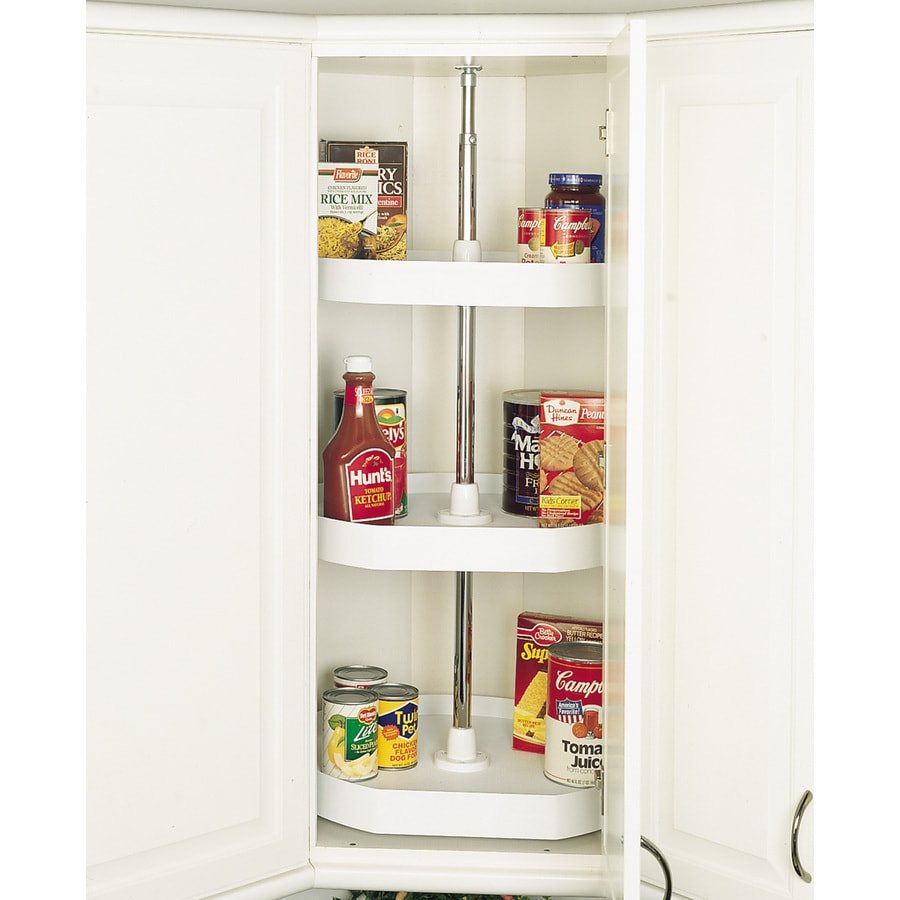 Rev-A-Shelf 3-Tier Plastic D-Shape Cabinet Lazy Susan
