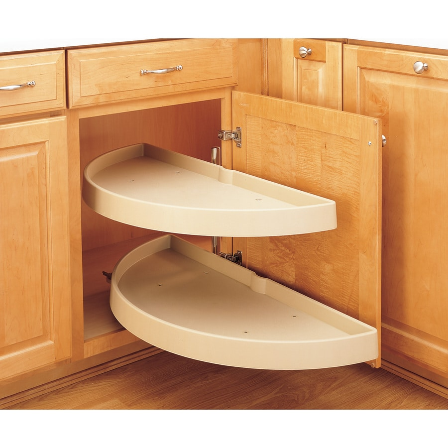 Rev-A-Shelf 2-Tier Plastic Half Moon Cabinet Lazy Susan