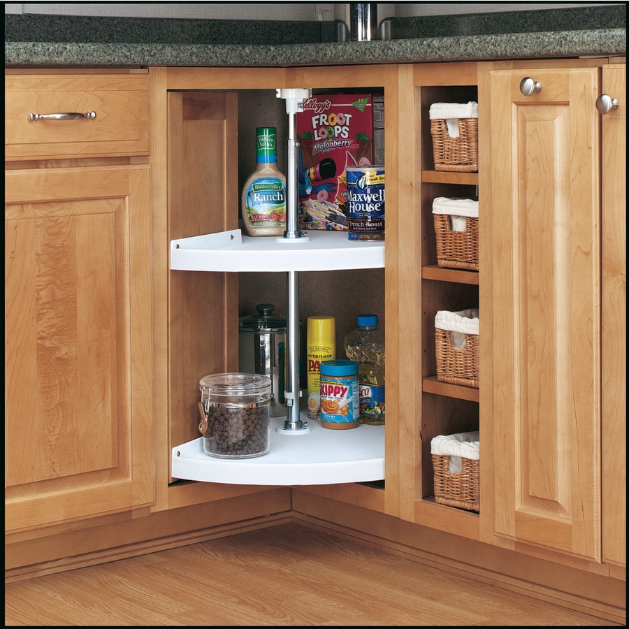 Shop Rev A Shelf 2 Tier Plastic Pie Cut Cabinet Lazy Susan At Lowes