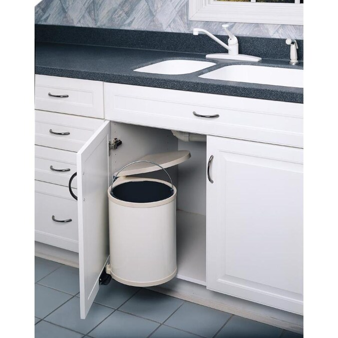 Rev A Shelf 6 Quart Plastic Pull Out Trash Can In The Pull Out Trash Cans Department At Lowes Com