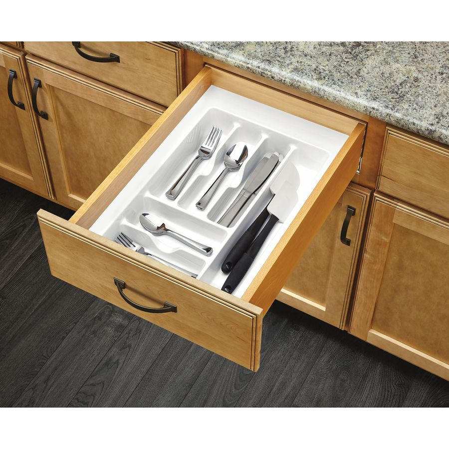 Rev-A-Shelf 21.25-in x 14.25-in Plastic Cutlery Insert Drawer Organizer