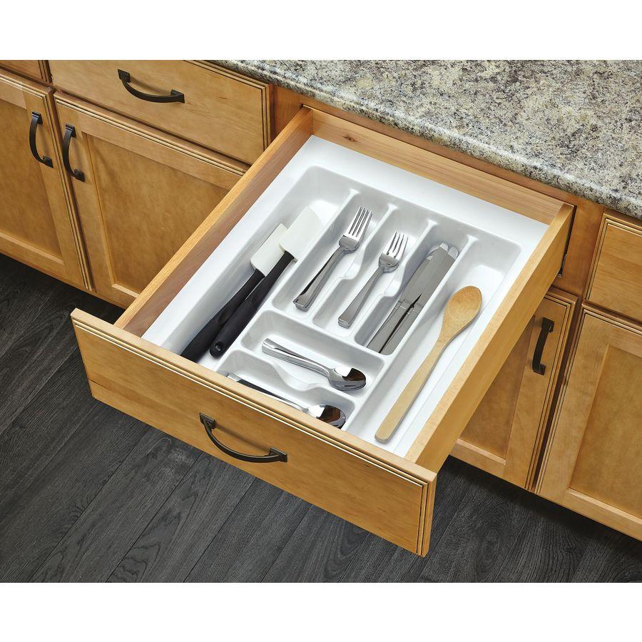 Rev A Shelf 21 25 In X 17 5 Plastic Cutlery Insert Drawer Organizer