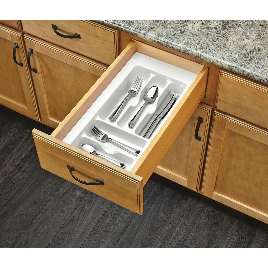 Rev-A-Shelf 21.25-in x 11.5-in Plastic Cutlery Insert Drawer Organizer
