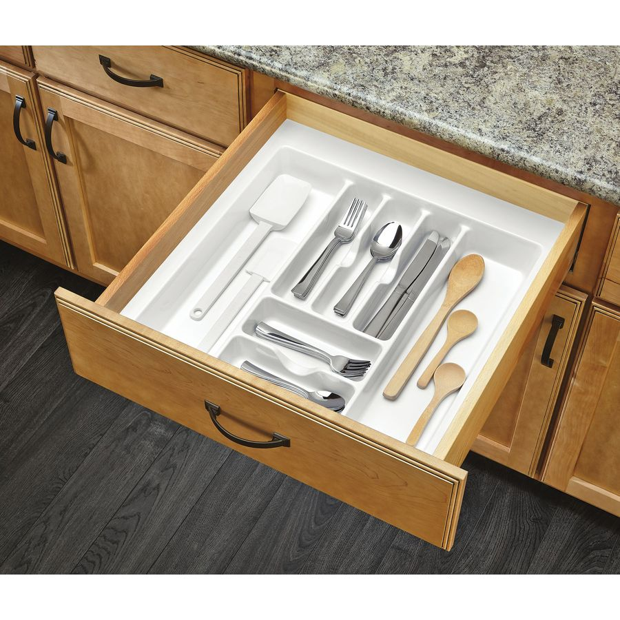 Rev-A-Shelf 21.25-in x 21.87-in Plastic Cutlery Insert Drawer Organizer