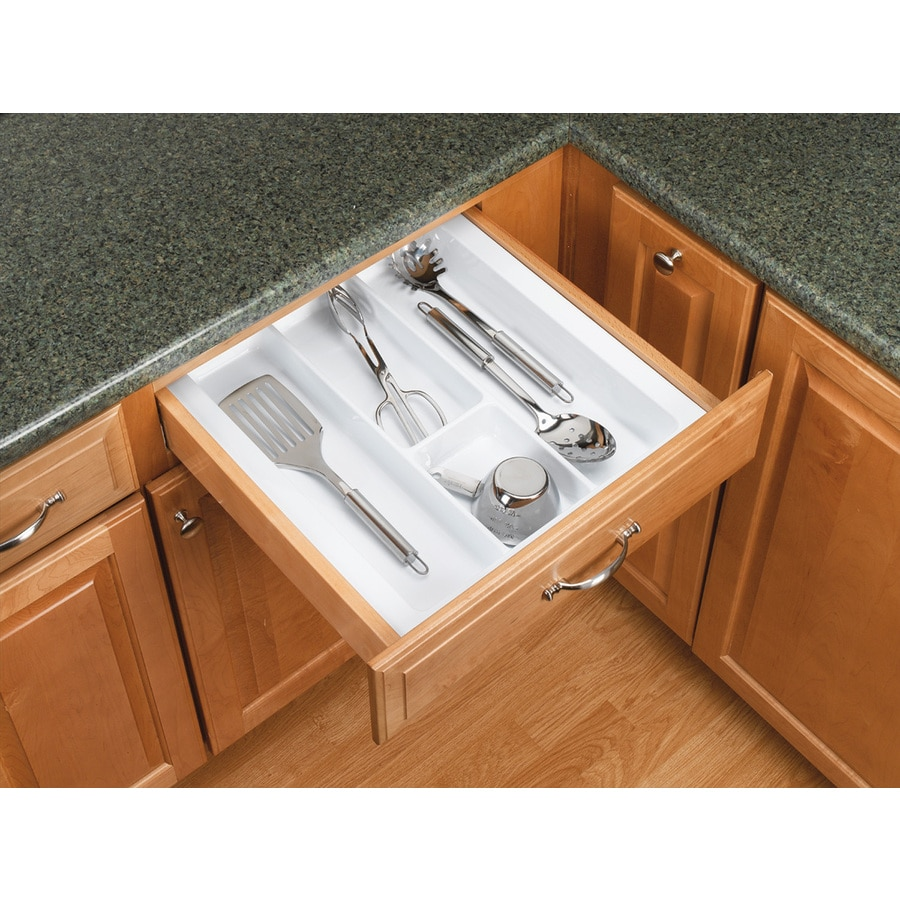 Rev-A-Shelf 21.25-in x 17.5-in Plastic Cutlery Insert Drawer Organizer