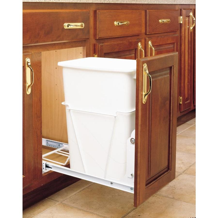 Charmant Rev A Shelf 35 Quart Plastic Pull Out Trash Can