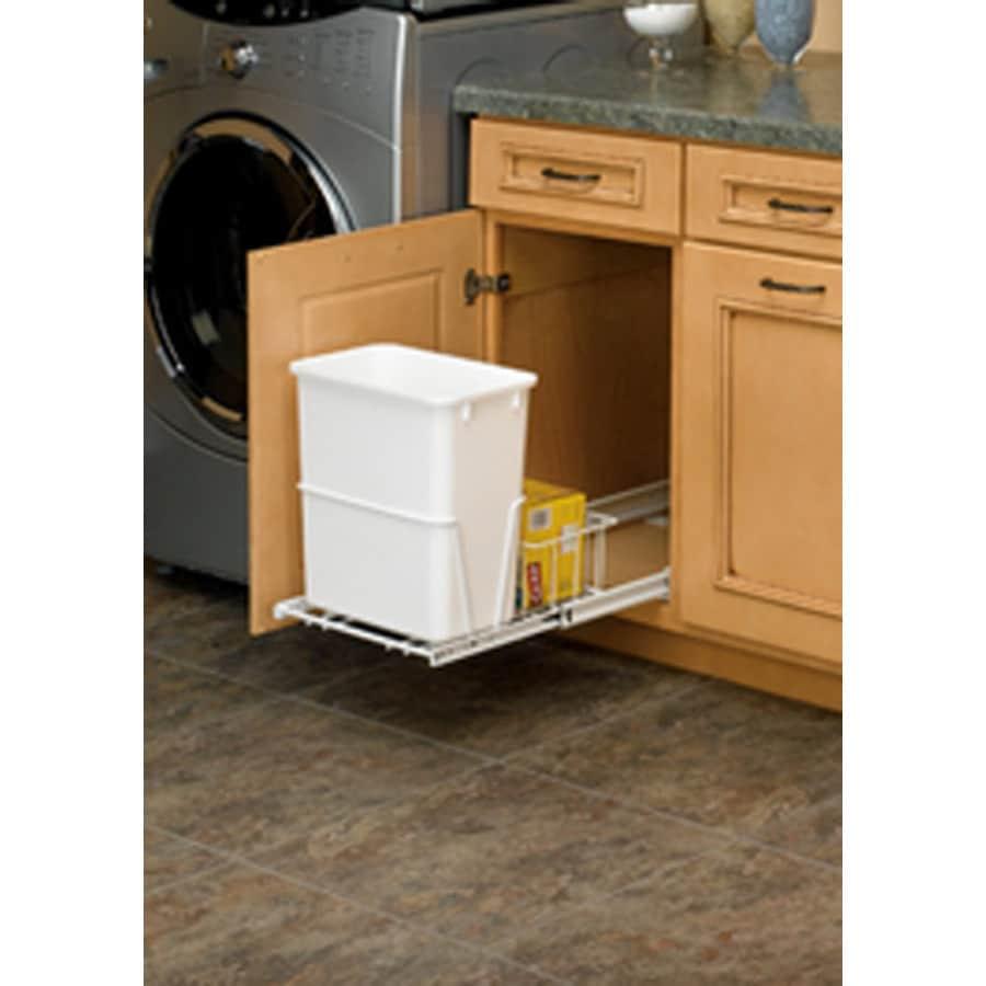 Superbe Rev A Shelf 20 Quart Plastic Pull Out Trash Can