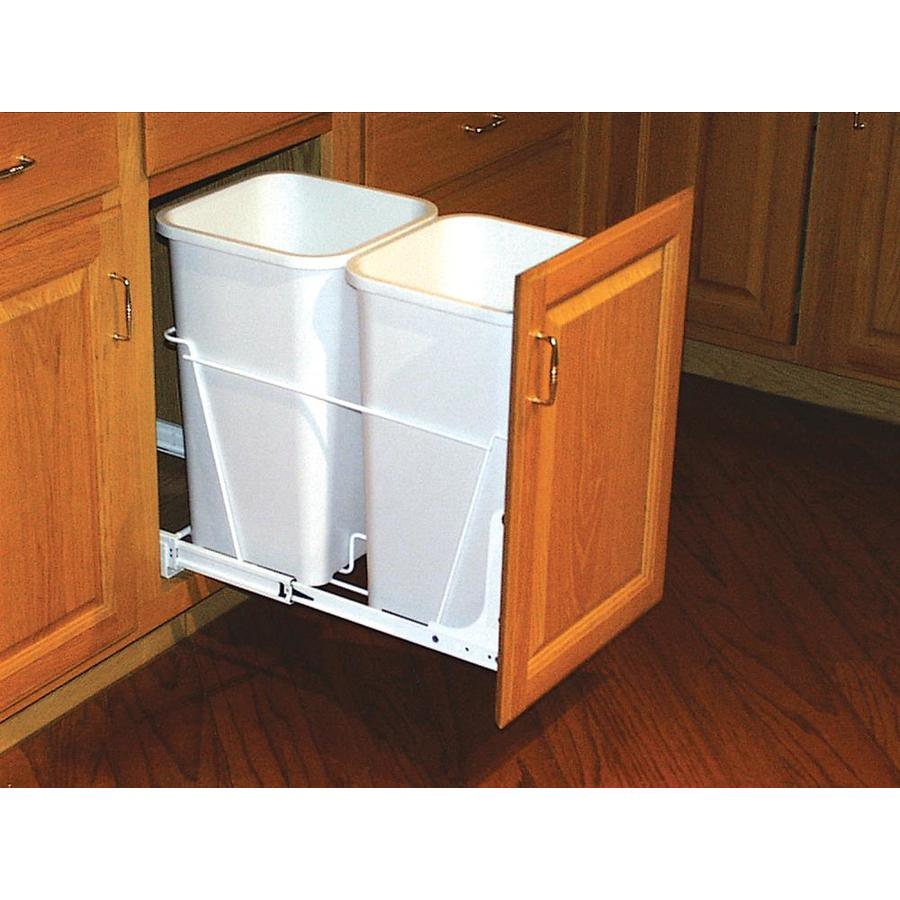 shop rev-a-shelf 27-quart plastic pull out trash can at lowes