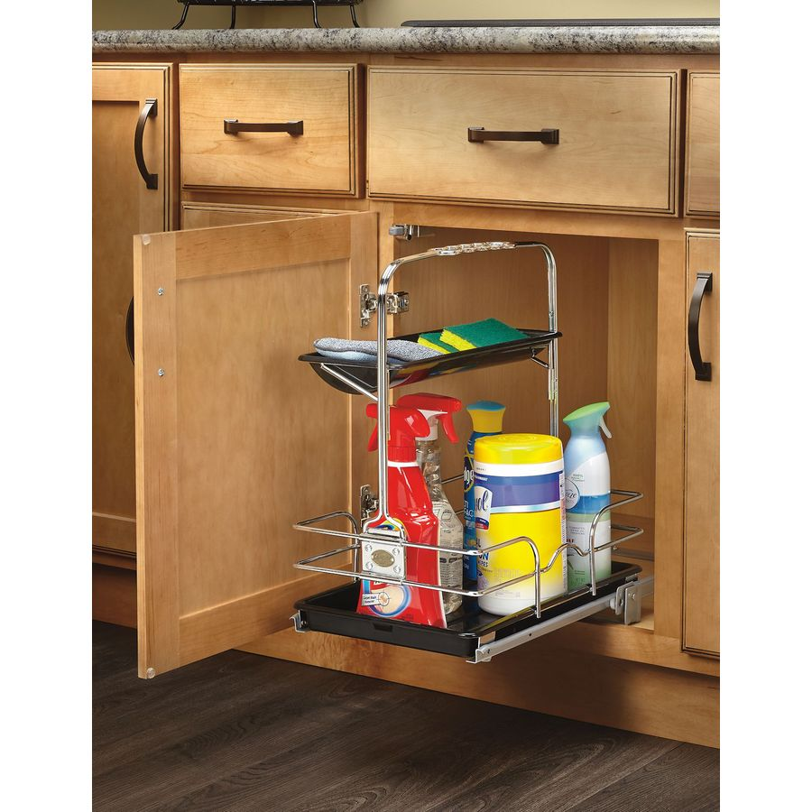 Rev-A-Shelf 11.25-in W x 19.5-in H Metal 1-Tier Cabinet Cleaning Caddy