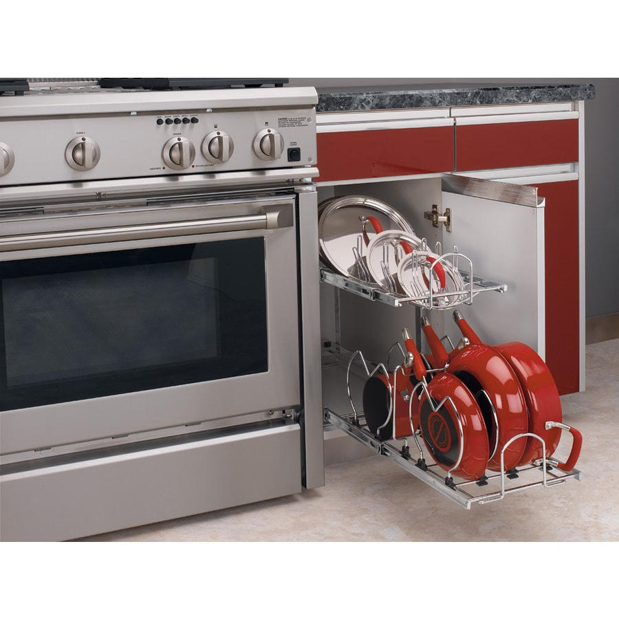 Rev-A-Shelf 11.75-in W x 18-in H Metal 1-Tier Pull Out Cabinet Basket