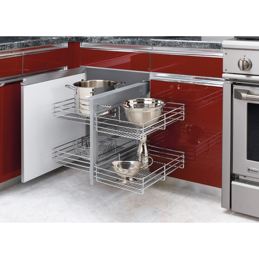 Pull Out Sliding Metal Kitchen Pot Cabinet Storage: Rev-A-Shelf 26.25-in W X 21-in 2-Tier Pull Out Metal
