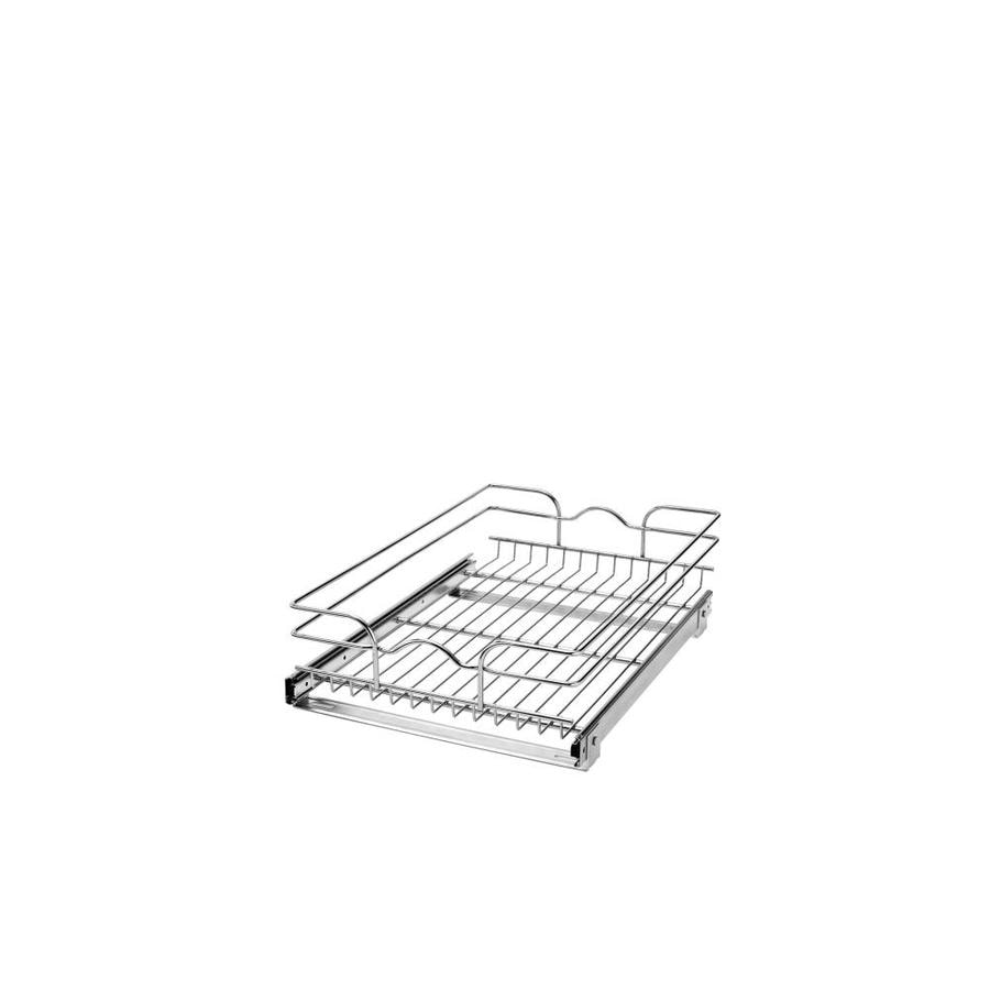 Rev-A-Shelf 14.75-in W x 7-in H Metal 1-Tier Pull Out Cabinet Basket