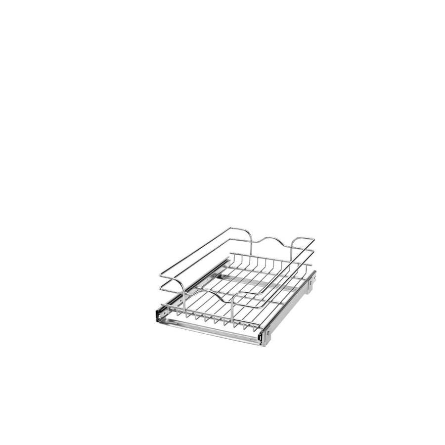 lowes kitchen organizers shop rev a shelf 11 75 in w x 7 in 1 tier metal basket at 3885
