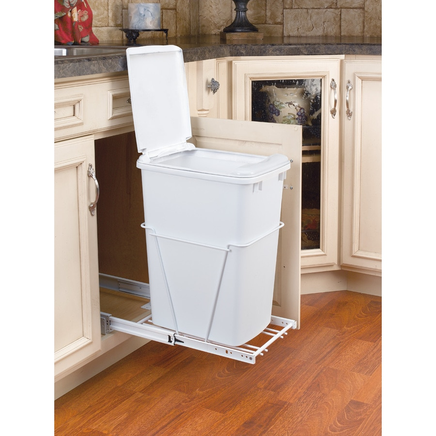 Rev-A-Shelf 35-Quart Plastic Pull Out Trash Can