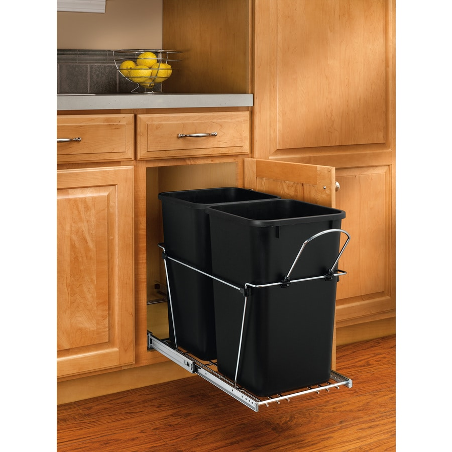Rev-A-Shelf 27-Quart Plastic Pull Out Trash Can