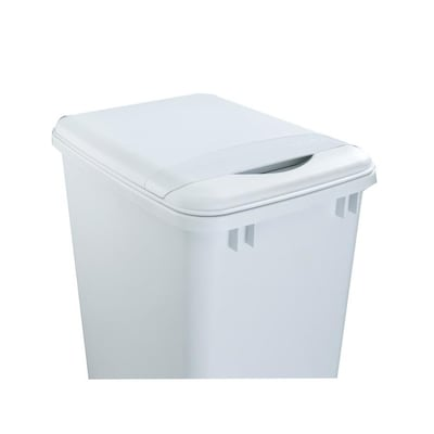 White Plastic Kitchen Trash Can Lid