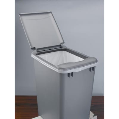 Gray Plastic Kitchen Trash Can Lid