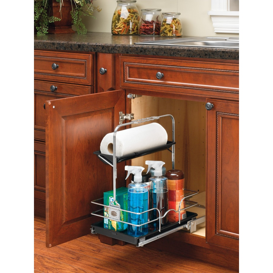 Rev-A-Shelf 11.25-in W x 19.5-in H Metal 1-Tier Pull Out Cabinet Basket