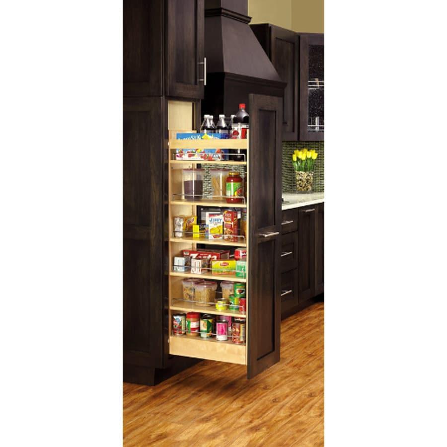 Rev-A-Shelf 5-in W x 51.88-in H Wood 1-Tier Cabinet Pantry