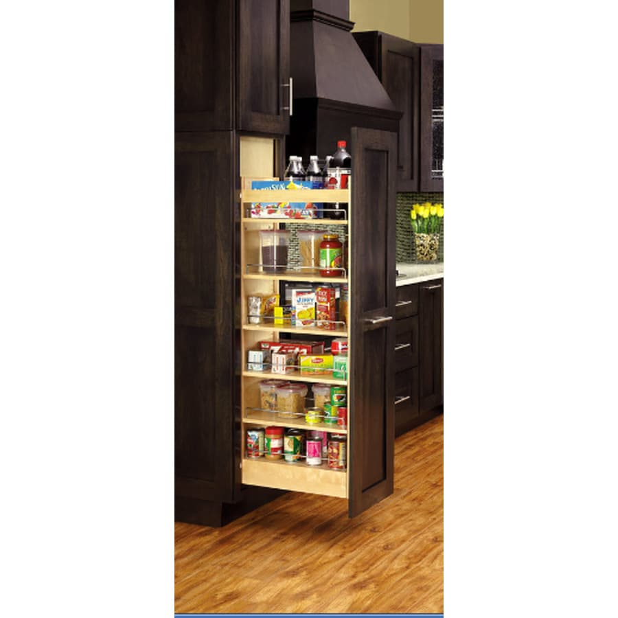 lowes kitchen organizers shop rev a shelf 14 in w x 59 31 in 1 tier wood cabinet 3885