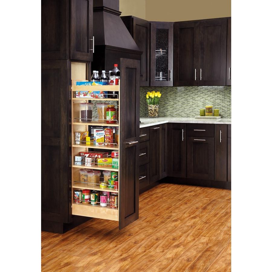 Shop Rev A Shelf 8 In W X 59 31 In H Wood 1 Tier Cabinet