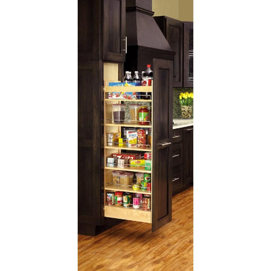 Rev-A-Shelf 11-in W x 66.88-in H Wood 1-Tier Cabinet Pantry