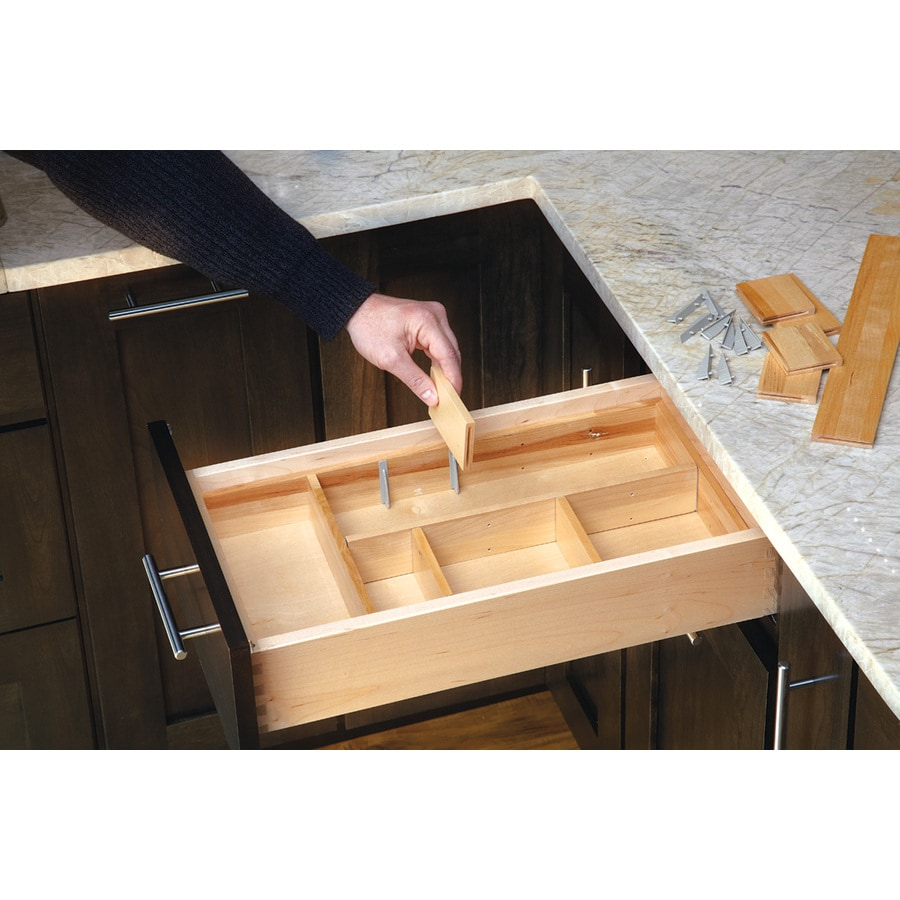 Shop rev a shelf x wood multi use insert for Kitchen drawer organizer