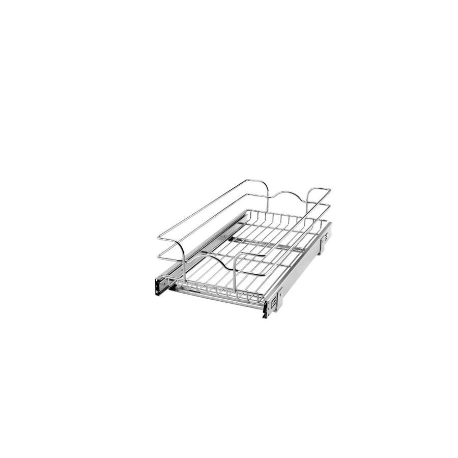 Rev-A-Shelf 11.75-in W x 7-in H Metal 1-Tier Pull Out Cabinet Basket