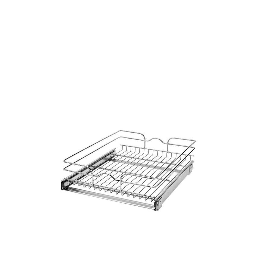 Rev-A-Shelf 17.75-in W x 7-in H Metal 1-Tier Pull Out Cabinet Basket