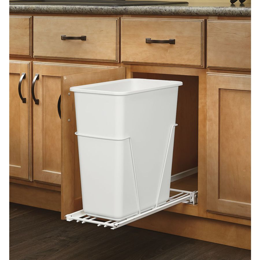 Merveilleux Rev A Shelf 30 Quart Plastic Pull Out Trash Can