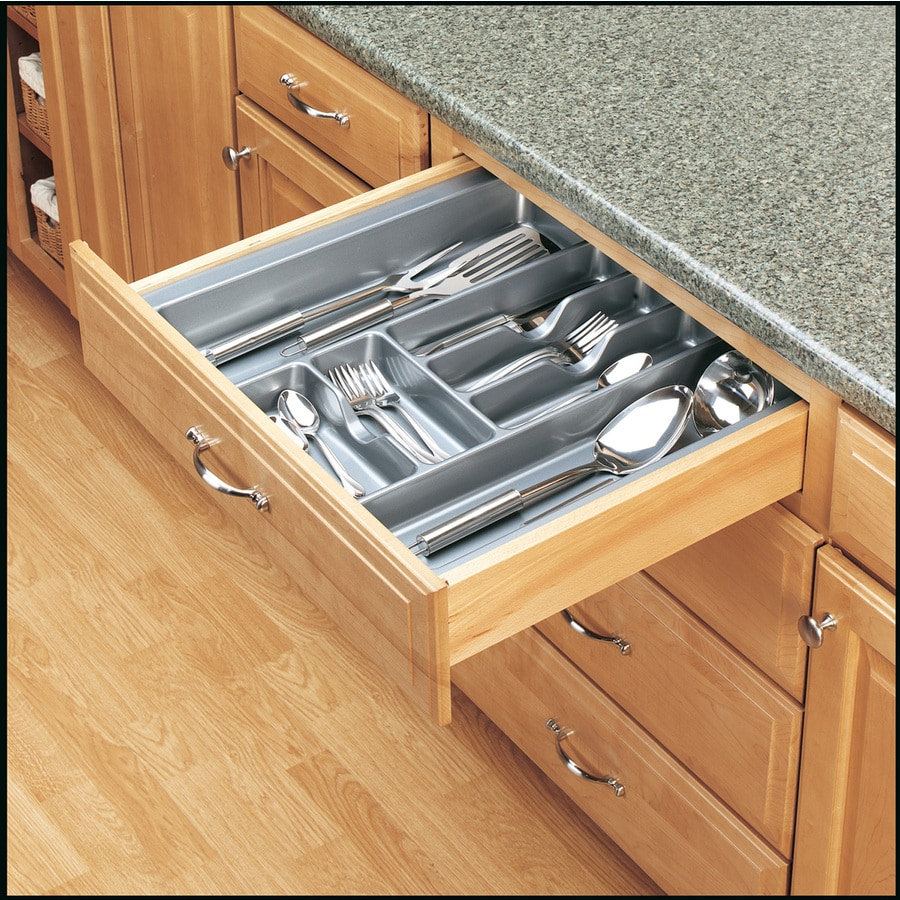 Shop rev a shelf x plastic cutlery for Kitchen cabinets and drawers