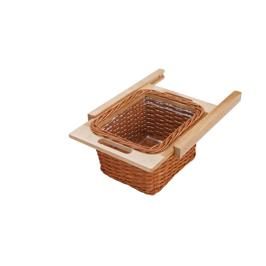 Rev-A-Shelf 14.17-in W x 17.75-in D x 7.38-in H 1-Tier Wood Pull Out Cabinet Basket