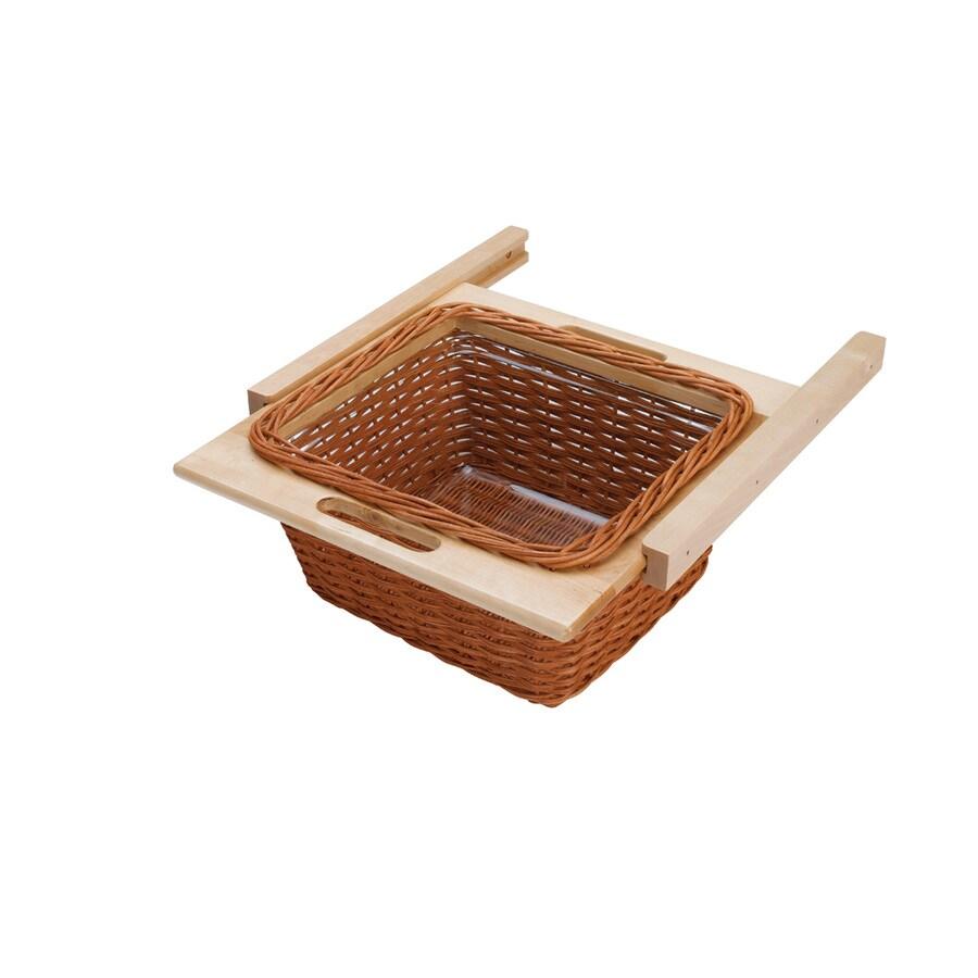 Rev-A-Shelf 18.11-in W x 17.75-in D x 7.38-in H 1-Tier Wood Pull Out Cabinet Basket