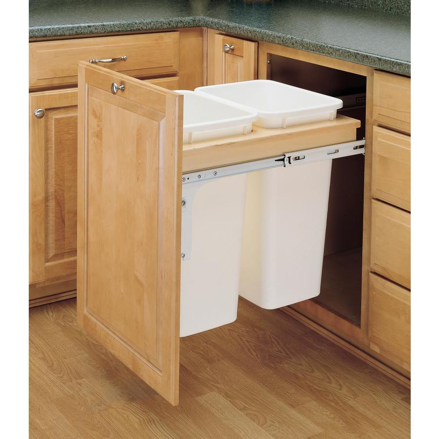 Charmant Rev A Shelf 50 Quart Plastic Pull Out Trash Can