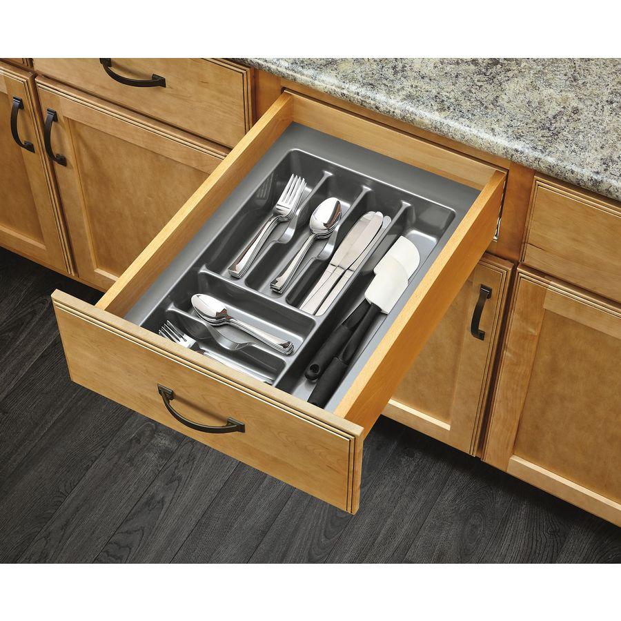 Rev-A-Shelf 21.25-in x 14.25-in Plastic Cutlery Insert Drawer Organizer