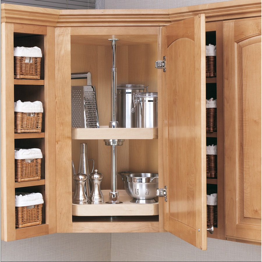Shelves For Kitchen Cabinets: Rev-A-Shelf 2-Tier Wood D-shape Cabinet Lazy Susan At